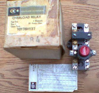New cutler hammer overload relay 10176H137 eaton open