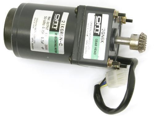 Oriental Motor Speed Control Stepper Motor Gear Head