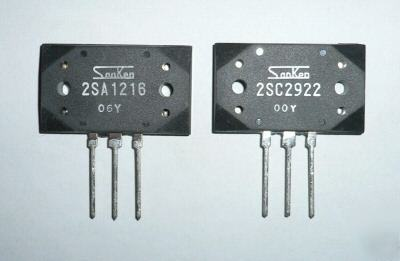 Pair of sanken audio output transistors