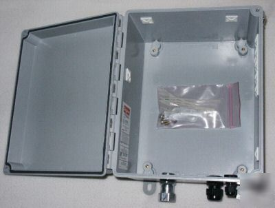 Hoffman Electrical Fiberglass Enclosure Box 10 X 8 X 6
