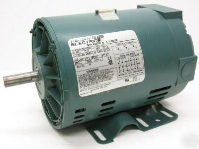 Reliance p56h 3ph motor 1 5 hp 208v 230v 460v 1725 rpm for 3 phase 208v motor